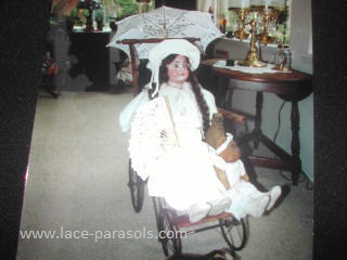 Doll Carriage and parasol